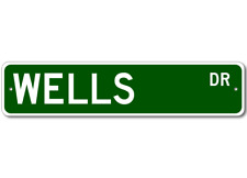 WELLS Street Sign - Personalized Last Name Sign
