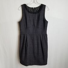 J Crew Womens A-Line Black Grey Pleated Waist Dress Size Medium A202