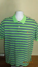 XL Polo Ralph Lauren Short Sleeve Casual Golf Shirt Green Navy Baby Blue Striped