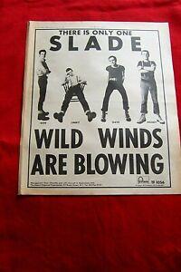 SLADE SKINHEAD WILD WINDS ARE BLOWING ALBUM 1969 ORIGINAL VINTAGE PRESS ADVERT