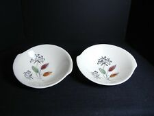 "Southern Potteries Blue Ridge: Two ""Queen Anne's Lace"" Tab Soup Bowls (4287-89)"