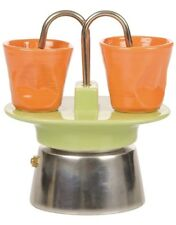 Kaleidos Classic Set With Two Cups Coffee Machine Stoneware 14 x 14 x 17 cm