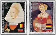 Timbres Arts Tableaux Haute Volta PA162/3 ** lot 22283