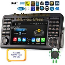 Autoradio Android 8.0 Mercedes DAB+ML GL Class W164 X164 Car GPS OBD 8 Core 8861