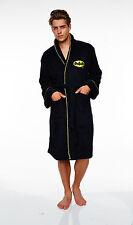 Batman Herren Fleece Bademantel DC Comics Bath robe Mantel Saunamantel Sauna neu