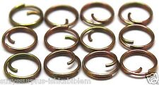 small mil-spec 7/16in 13mm zinc button rings fasteners no sew lot of 12 B115