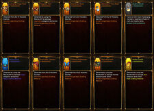 Diablo 3 RoS PS4 [HARDCORE] - Huge Crafting Bundle - 1 Billion Crafting Mats!