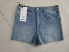 Riders by Lee Ladies High Cheeky Cut Out Stretch Denim Shorts  Size 14