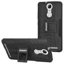 AMZER Black Dual layer Warrior Hybrid Protective Case for Lenovo K5 Note