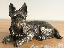 More details for bronze scottish terrier beauchamp sculpture ornament figurine scottie lover