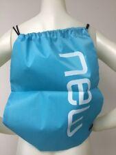 """Gym Sack String Backpack Blue New 17.5"""" X 13.5"""" Book Bag Carrier"""