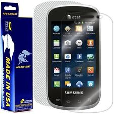 ArmorSuit MilitaryShield Samsung Galaxy Appeal Screen + White Carbon Fiber Skin