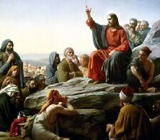 "Lord Jesus Christ Sermon on the Mount Art Print 8""x 10"" Christian Photo 21"