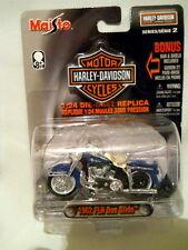 Harley Davidson Maisto 1962 FLH DUO Glide 1:24 Die-Cast Bonus Bar & Shield