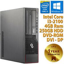 PC COMPUTER RICONDIZIONATO FUJITSU E700 CORE i3-2100 RAM 4GB HDD 250GB WIN 10