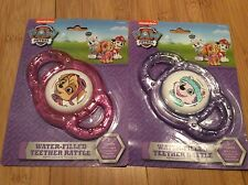 New Paw Patrol water filled teethers pink Skye purple Everest