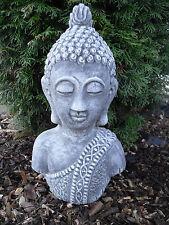 Steinfigur Buddha Shiva Büste (43cm)   Feng-Shui Frostfest Steinguss Garten Deko