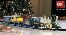 20 PC Electric Train Set WIth Lights Sounds Smoke Engine Choo Choo 3 Locomotive