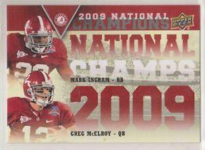 2012 Upper Deck Alabama Football National Champions Duos Ingram/McElroy #NCD-MI