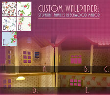 CUSTOM WALLPAPER for Sylvanian Families BEECHWOOD HALL  #SF4531 Calico Critters
