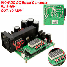 DC 900 W 15 A 8-60 V a 10-120 V CC CV Boost Convertidor ascendente power supply LED