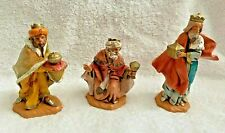 Fontanini Nativity Italy Hand Painted 3 Wise Men Kings Melchior Balthazar Gaspar
