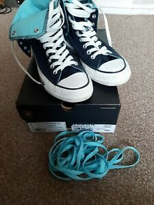 CONVERSE ALL STAR CT TWO FOLD HI NAVY MEN WOMEN TRAINERS SIZE UK 5 EUR 37.5