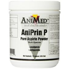 AniMed AniPrin P 16 oz Pure Aspirin Powder for Horses | Analgesic | Antipyretic