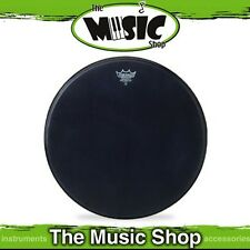 "New Remo 20"" Powerstroke 3 Black Suede Bass Drum Skin - 20 Inch Head -P3-1820-ES"