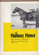 The Harness Horse Magazine/Journal 1/2/1957 Gene Abbe/Priscilla Nolan/Sabah