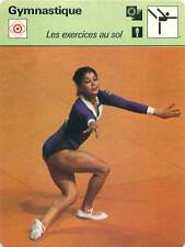 FICHE CARD: Nellie (Nelly) Kim URSS Exercices Sol Floor Exercis Gymnastics 1970s