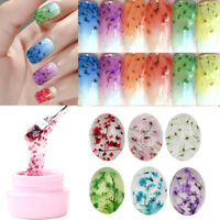 Fairy Nail Art UV Gel Real Dried Flowers Polish Manicure DIY Tips Decoration