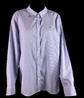 TOMMY HILFIGER | Men's LS Button Shirt | Classic Fit | Blue & White | Size XXL