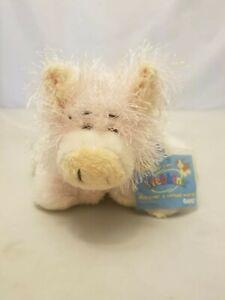 Ganz Webkinz Fuzzy PIG HM002 Stuffed Animal Bean Plush with Tag Sealed Code 8 in