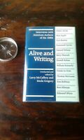 Alive and Writing: Interviews, 1st ed  F/F McCaffery, 5 x SIGNED, Tom Robbins