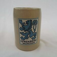 """Lowenbrau Munchen (Lion's Brew) Beer Stein Mug Cup 5"""" With Handle West Germany"""