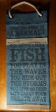 Signs You Might Be A Mermaid Nautical Blue Coastal Beach Home Decor Canvas Sign
