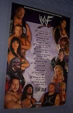 1999-2000 WWF SCHEDULE POSTER Kane TRIPLE H Big Show UNDERTAKER Rock AUSTIN