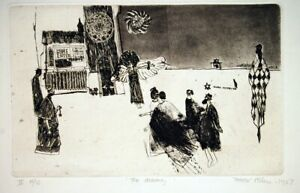 Trevor Allen The Coming 1967  Original Print Etching and Drypoint
