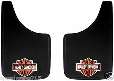 "Pair 9""x15"" Harley Davidson Easy Fit Mud Flaps Splash Guards New Free Shipping"