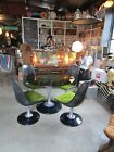 VTG Mid Century Chromecraft Smoke Lucite and Chrome with Glass Table Top Dining