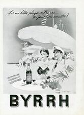 """""""BYRRH"""" Annonce originale entoilée pour FRANCE -ILLUSTRATION de 1951 FALCUCCI"""
