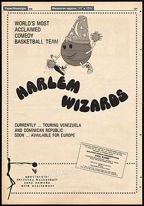 HARLEM WIZARDS__Original 1976 Trade print AD / vintage promo / poster_basketball