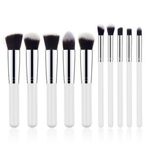 10 PCS Make up Brush Foundation Blusher Face Powder Brush Pencil Blending Brush