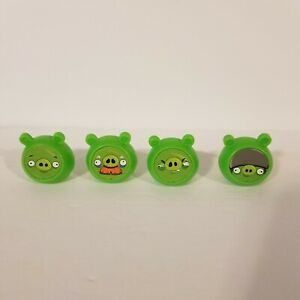 Angry Birds Knock On Wood Game Replacement Parts Pieces Lot of 4 Pigs