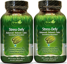 Irwin Naturals Stress Defy, Balanced, Relaxed, Calm Soft-Gels, 84-CNT (2 Pack)
