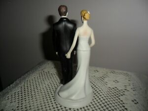 "Wedding Star ""LOVE PINCH""  Couple Figurine Cake Topper Porcelain"