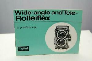 Rolleiflex wide-angle and Tele-Rolleiflex Genuine Instruction book, immaculate