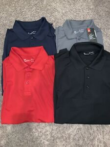NWT Men's Under Armour Polo Golf Shirt Gray, Black, Red Blue M, L, XL MSRP $50