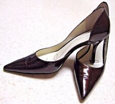 """AK Anne Klein Brown Patent Leather High Heels Shoes 3.25"""" Pointy Toes 7M EUC"""